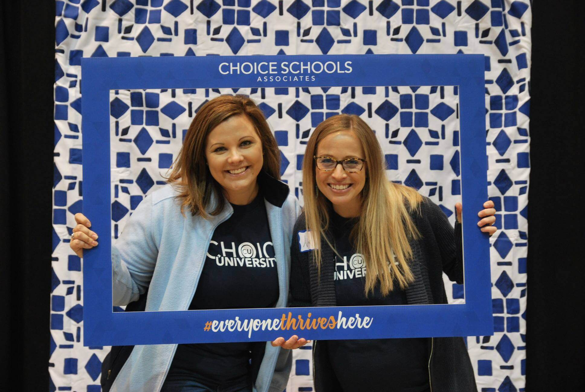 Choice U - Choice central office staff at photo booth