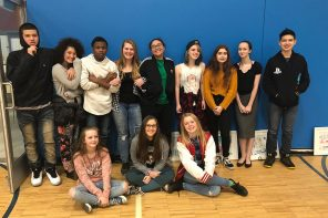 BCMA alumni students visit school