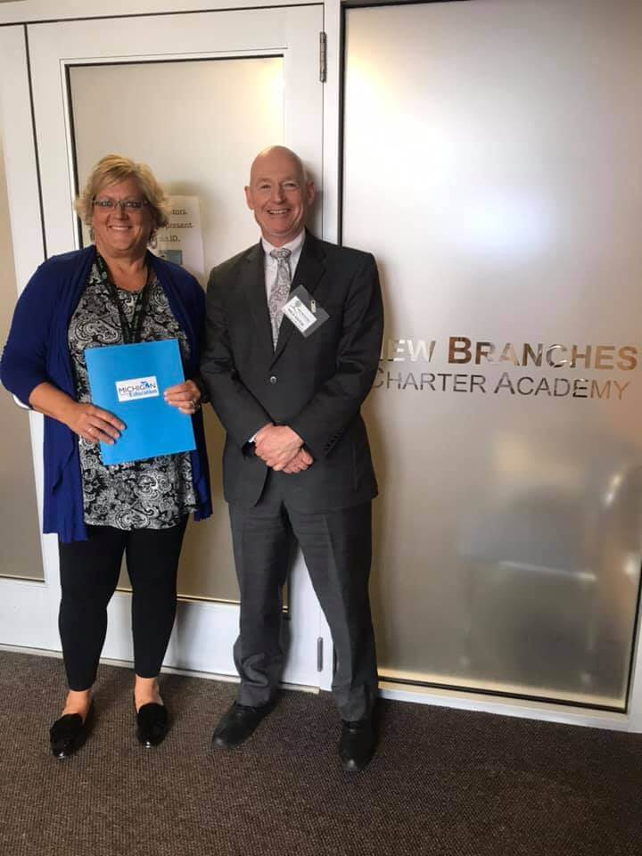 Michigan Department of Education visits New Branches Charter Academy