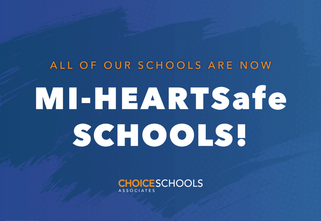 All of our schools are now MI-HeartSafe Schools!